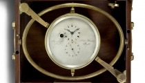 Marine chronometer with two going-barrels